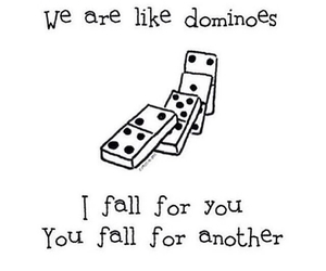 love, dominoes, and quote image