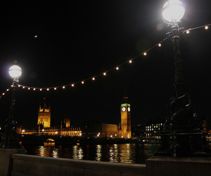 Big Ben, lights, and london image
