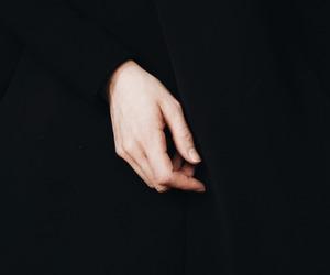 hand, black, and dark image