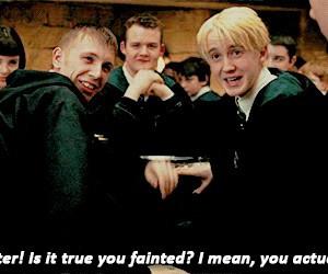 hogwarts, potter, and malfoy image