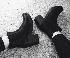ankle boots, black, and boots image