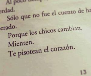book, boys, and frases image