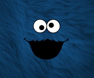 blue, cookie monster, and lock screen image
