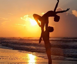 dance, beach, and couple image