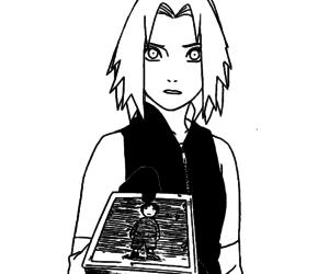 manga, monochrome, and naruto image