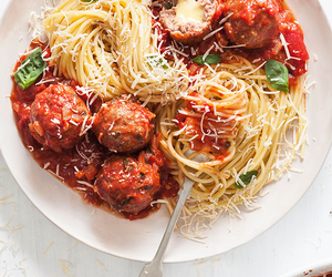 food, pasta, and spaghetti image