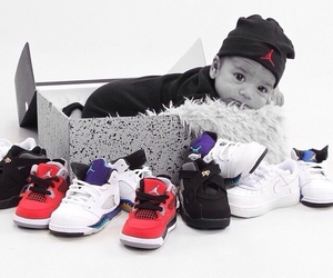 babies, shoes, and j's image