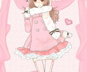 anime and pink image