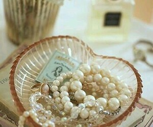 boudoir, pearls, and vintage image