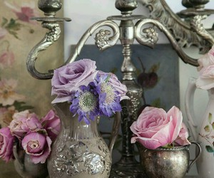bouquet, flowers, and vintage image