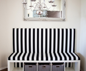 black and white, decoration, and furniture image