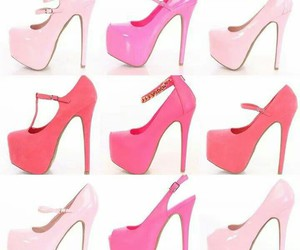ankle strap, pink heels, and heels image
