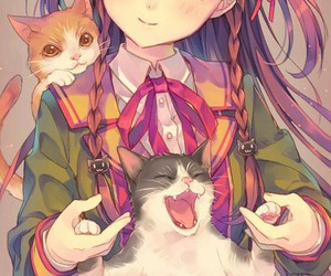 anime and cat image