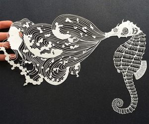 hippocampus and paper carvings image