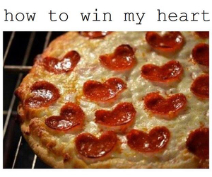 pizza, love, and heart image