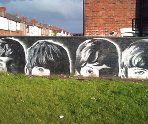 beatles, paint, and black image