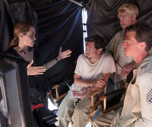 Angelina Jolie, backstage, and unbroken image