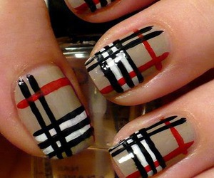 nails, Burberry, and nail art image