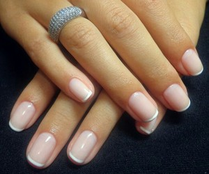 pink french nails image