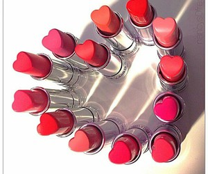 lipstick, heart, and lips image