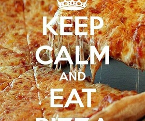 pizza, eat, and food image
