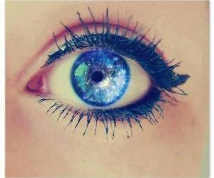 eye, eyes, and galaxy image