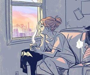 batgirl, anime, and coffee image
