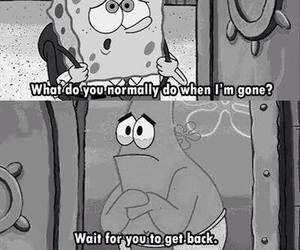 miss you, patrick, and spongebob image