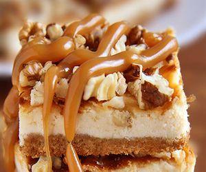 cake, caramel, and food image