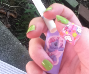 my little pony, nails, and smoke image