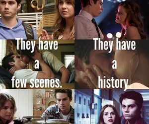 lydia, stiles, and teenwolf image