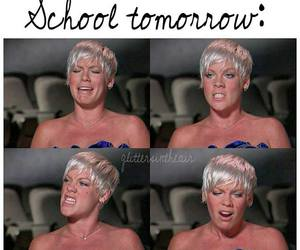 no, school, and P!nk image