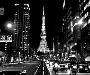 paris, city, and black and white image