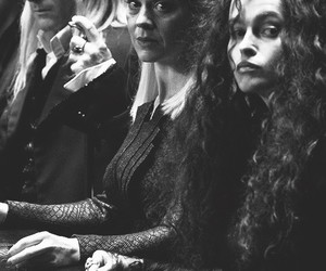 harry potter, bellatrix, and lucius malfoy image