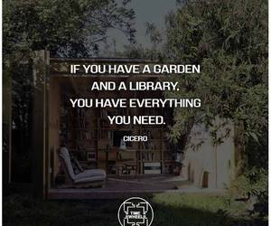 books, experience, and garden image