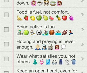 fitness, food, and reminder image