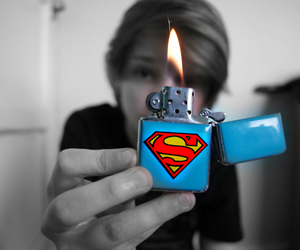 superman, boy, and fire image