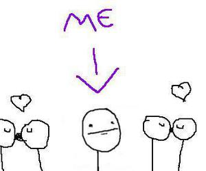 forever alone, me, and couple image