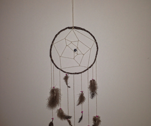 diy, dreamcatcher, and feathers image