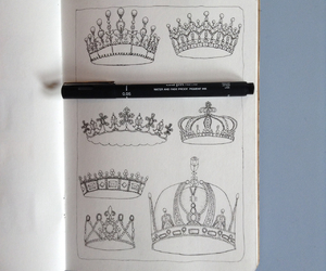 crown, sketch, and drawing image