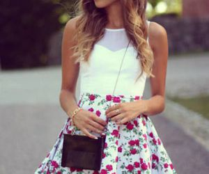 amazing, dress, and flowers image