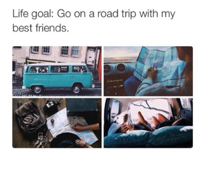 friends, goals, and trip image