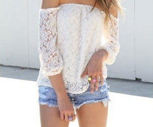 summer, white, and lace image