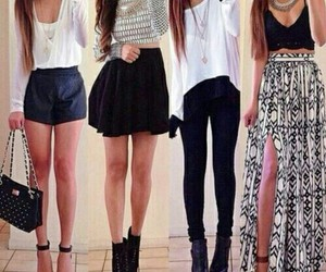 fashion, jeans, and long skirt image