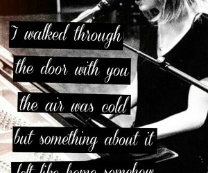 black and white, red, and Taylor Swift image
