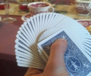 bicycle, playing cards, and christmas image