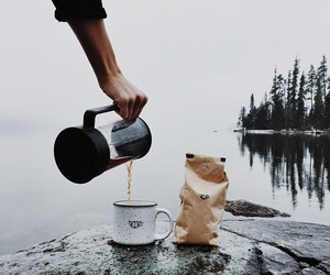 coffee, nature, and adventure image
