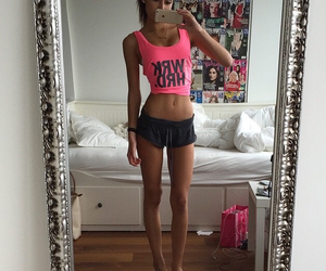 body, girl, and fit image