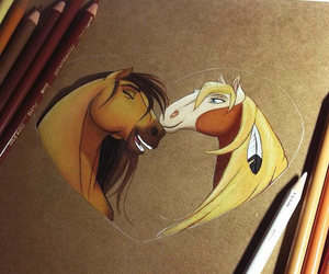 horse, spirit, and disney image