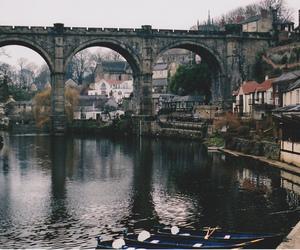 city, bridge, and river image